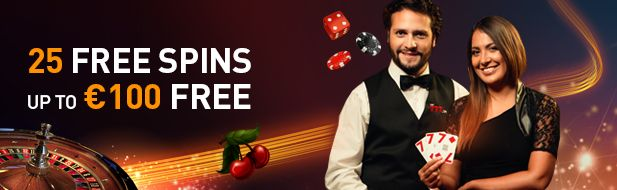 25 free spins & up to €100 free
