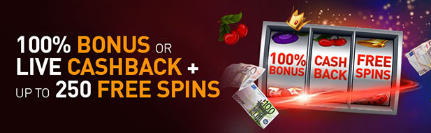 Choose your gift: €250 Bonus or Cashback