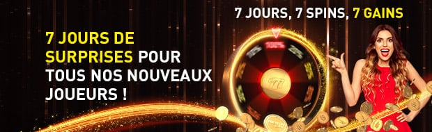 7 jours, 7 spins, 7 gains
